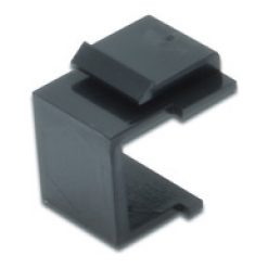 Blind plate for modular patch panel color black