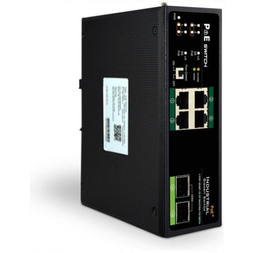 DIGITUS Industrial 4-Port Gigabit PoE Switch, Unmanaged, 2 uplinks_4