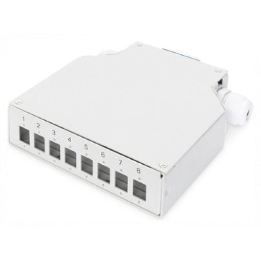 Din Rail Splice Box for 8 LC DX couplers